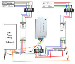 led strip multiple led s one controller diagram included enter image description here