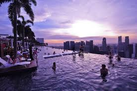 Infinity pool in Marina Bay Sands Skypark Singapore Places To See