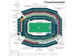 One Direction Lincoln Financial Field Seating Chart Seating Bowl Diagram Lincoln Financial Field