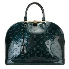 louis vuitton monogram patent leather alma bag for