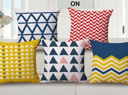 Abstract geometric throw pillow for living room scandinavian pillows