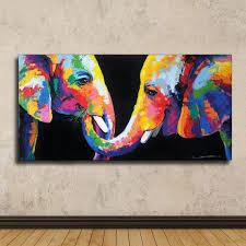 40 x 80 cm colorful rainbow elephant painting wall decor paintings on canvas