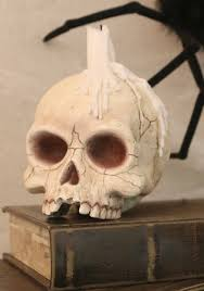 skull candle holder on the hunt