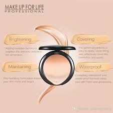 makeup cosmetics concealer cream foundation waterproof good cover fix powder cake foundation pact foundat face powder