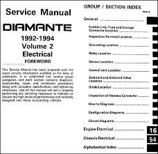 1992 1994 mitsubishi diamante repair shop manual set original covers all 1992 1993 and 1994 mitsubishi diamante models including es and ls these books measure 8 5 x 11 and are 3 thick together