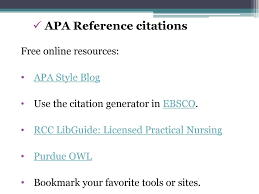 Academic Writing Working With Outside Sources And Apa Style Ppt