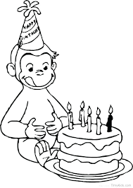 coloring pages curious george coloring book page as well birthday pages geor