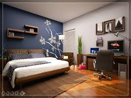 Cool Wall Painting Ideas Bedrooms Simple On Bedroom With Regard To Paint  Skylight Blue Accent 15