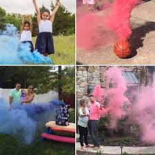 colored smoke sticks gender reveal smoke s