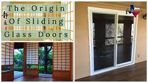 the origin of sliding glass doors