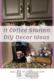 Mix up ivory white, eggshell white, and vanilla white. 11 Coffee Station Diy Decor Ideas B4 And Afters