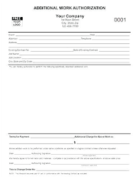 Work Authorization Template Form Brilliant Ways To Advertise