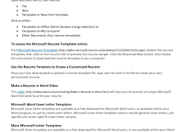 Cover Letter Pdf Free Professional Resume Templates Microsoft Word