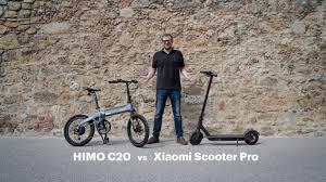 <b>Folding</b> e-Bike or e-Scooter? Xiaomi Scooter Pro vs Himo C20 ...