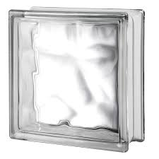 seves nubio clear wave glass block common 12 in h x 12