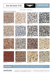 Westcoat Epoxy Color Chart Color Chip Blends Front Concrete Texturing