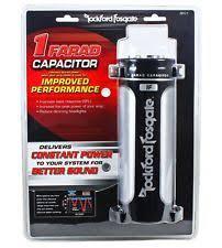 1 farad car audio capacitors rockford fosgate rfc1 rfc 1 platinum plated 1 farad car audio power capacitor