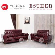 mf design esther 2 3 seater sofa set