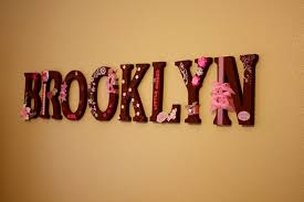image of creative wall letters decor