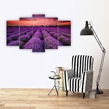 decorotika field of lavender five piece horizontal wall art artwork adhesives included as on horizontal wall art amazon with amazon decorotika field of lavender five piece horizontal wall