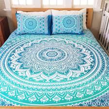 Best 25+ Queen size bedding ideas on Pinterest   Queen size beds ... & Bohemian Blue Life Flower Indian Queen Size Bedding 3 Piece Set Mandala  Boho Hippie Bedspreads Tapestry Adamdwight.com