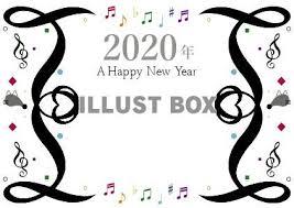 無料イラスト お年賀2020年新年幕開けコンサート音楽会ゴシック系