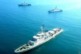 Three Indonesian Navy Warships Practice ...