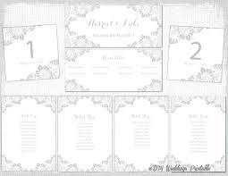 seating chart printable wedding table template