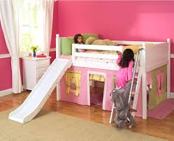 kids loft bed with slide. Playhouse Bed With Slide Low Loft W By Kids Pink Yellow Green S