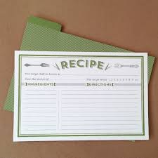 Classic Recipe Cards Printable By Basic Invite