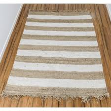 jute hemp rug with fringe and white lines jhemplnswht 800x800w jpg