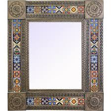Decorative Tile Frames Talavera Tile Mirrors Collection Talavera Tile Mirrorw Multi 65