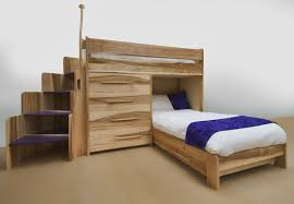Kids Desk With Storage Bedroom Pine Wood Kids Bunk Bed In Cherry Finished Having Stair