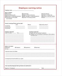 Employee Warning Notices Free 8 Sample Employee Warning Notice In Pdf Doc