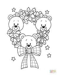 Wreath Coloring Page Christmas Wreath Coloring Pages Free Coloring