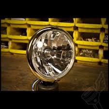 satin black brass bottom mount 5 3 4 old school bates headlight
