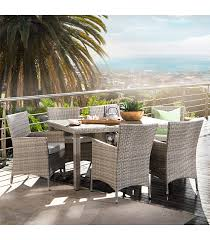 nevada patio dining set titanium