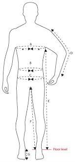 body measurement chart for men body measurement chart guideline international