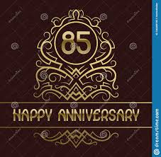Anniversary Template Happy Anniversary Greeting Card Template For Eighty Five Years