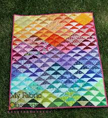 55 best Half-Square Triangle Quilts images on Pinterest | DIY ... & Idea for a charm quilt - maybe the big 10 swap? My Fabric Obsession: Rainbow  QST quilt finish Adamdwight.com