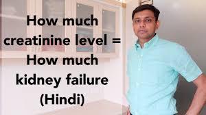 Kidney Creatinine Chart How Much Creatinine Level How Much Kidney Failure Hindi