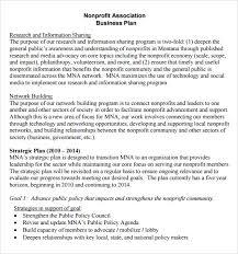 nonprofit business plan template doc nonprofit business plan
