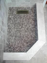 mosaic tile shower floor