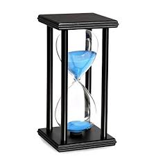 10 Minuite Timer Bojin 10 Minute Hourglass Sand Timer Wooden Black Stand Hourglass Clock For Office Kitchen Decor Home Blue Sand