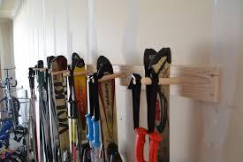 diy ski storage rack