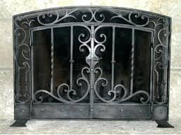 spark guard fireplace screens fireplace screen and glass doors awesome spark guard curtains custom size screens spark guard fireplace screens
