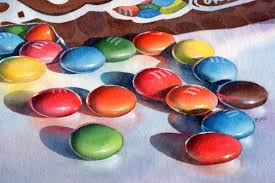 barbara fox daily paintings m ms sold candy still life watercolor painting by barbara fox