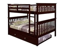 Image Unavailable. not available for. Color: DONCO Bunk Bed Full over Amazon.com: Trundle in Cappuccino