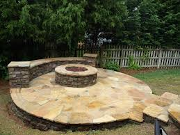 Fancy Flagstone Patios With Fire Pits F37X In Rustic Interior Design