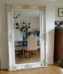 antique design ornate ivory wall mirror